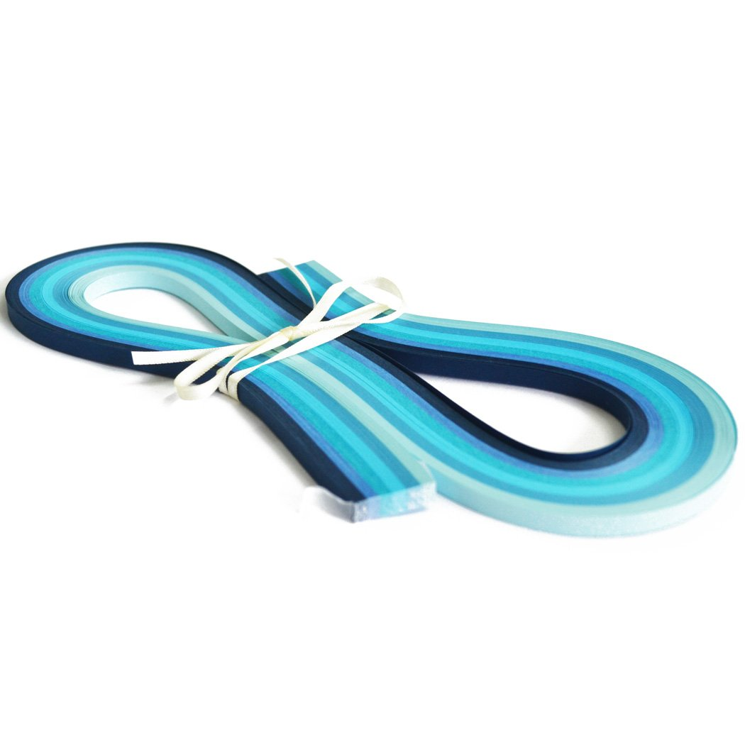 Juya Blue Shade 6 Colors Paper Quilling 3//5//7//10mm Width 540mm Length 120strips//pack Paper Width 3mm