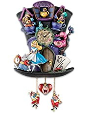 Disney Alice in Wonderland Mad Hatter Cuckoo Clock by The Bradford Exchange