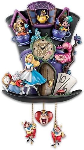 The Bradford Exchange Disney Alice in Wonderland Mad Hatter Light Up Cuckoo Clock