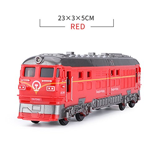 RAIFU レトロ 車 おもちゃ LEDライト サウンド 効果音付き ダブルヘッド 機関車 おもちゃ シミュレート 慣性 列車 子供 ギフト