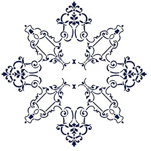 Designer Stencils Filagree Medallion Ceiling Design Wall Stencil SKU #2735R by