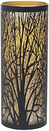 Sterno Home Candle Impressions Indoor Outdoor Laser Cut Tree Luminary with Programmable Timer, 9 inch