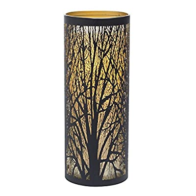 Sterno Home Candle Impressions Indoor/Outdoor Laser Cut Tree Luminary with Programmable Timer, 9 inch - Programmable timer Weather resistant plastic and metal Up to 1,000 hour battery run time - patio, outdoor-lights, outdoor-decor - 51t3OTom%2BsL. SS400  -