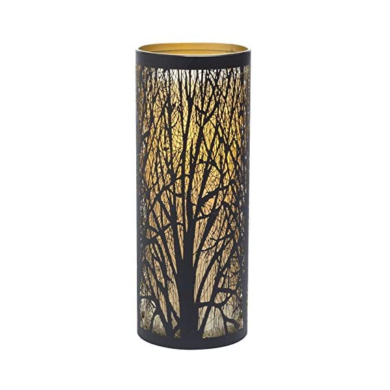 Sterno Home Candle Impressions Indoor/Outdoor Laser Cut Tree Luminary with Programmable Timer, 9 inch - Programmable timer Weather resistant plastic and metal Up to 1, 000 hour battery run time - patio, outdoor-lights, outdoor-decor - 51t3OTom%2BsL. SS570  -