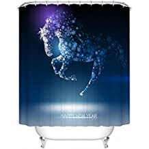 Abbott case_marry christmas (30)_100% Polyester Fabric Shower Curtain Standard Size Custom The size:36x72inch/90x180cm
