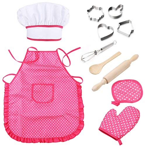 chef apron and hat for girls - 6