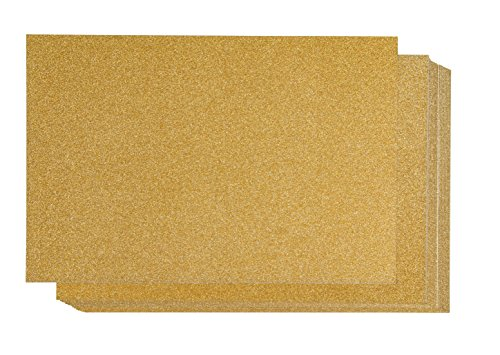 Glitter Cardstock Paper - 24-Pack Gold Glitter Paper for DIY Craft Projects, Birthday Party Decorations, Scrapbook, Double-Sided, 250GSM, 8 x 12 inches ()