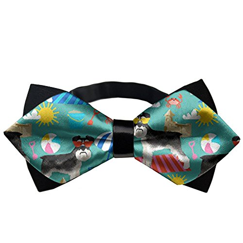 AMERICAN TANG Sandcastles Bowtie Gift Mens Classic Pre-Tied Satin Formal Tuxedo Bow Ties Adjustable Length