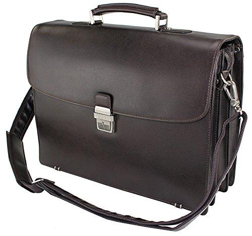 LEDER - 15 Zoll - Aktentasche, Lehrertasche, Dokumententasche, Bürotasche, Schultasche, Arbeitstasche, Umhängetasche, Schultertasche