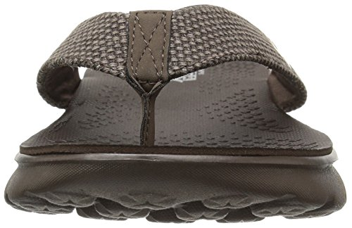 Skechers on-The-Go 400, Flip Flop Uomo Chocolate Canvas