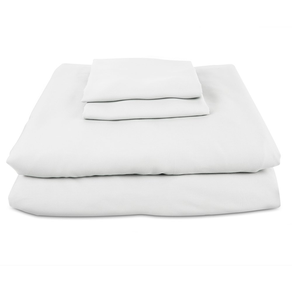 Bamboo Sheets INTERNATIONAL Premium 100% viscose bamboo sheet set in Queen White. BSI-Q-W. luxury bamboo bed sheets with deep pocket design are the perfect pillow top mattress sheets.