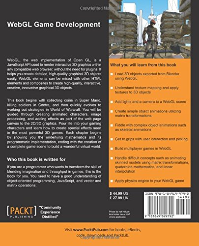 WebGL Game Development: Amazon co uk: Sumeet Arora: 9781849699792: Books