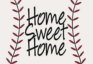 "Unique Textile Printing Home Sweet Home de béisbol y sófbol 18""x26 Welcome alfombra Felpudo"