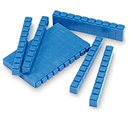 ETA hand2mind Interlox Base Ten Blocks, 161-Piece Starter Set