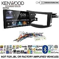 Volunteer Audio Kenwood DMX7704S Double Din Radio Install Kit with Apple CarPlay Android Auto Bluetooth Fits 2006-2012 Non Amplified Toyota RAV4