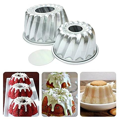 4pcs Aluminum Alloy Mini Savarin Cake Pan Cakes Bundtpan Diy Baking Tools Mold Tool Home Kitchen - Heritage Fat Quarter Bundle