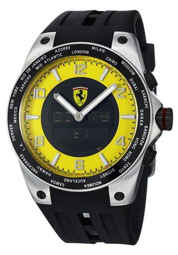 Ferrari Men's FE05ACCYW Black/Yellow Stainless Steel Watch