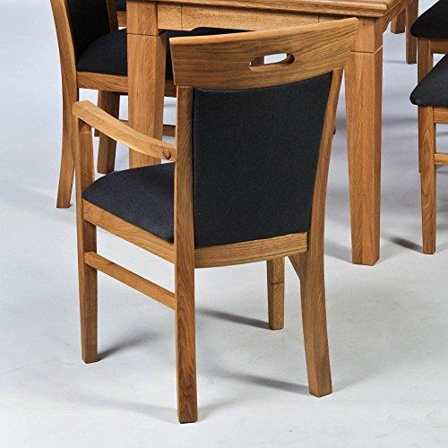 BFK Möbel Collection Beverly Armlehnstuhl mit Polsterung  Holz braun 56.5x54x95.5 cm