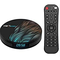 Android 9.0 TV Box HK1 Max's with Dual-WiFi 2.4GHz/5GHz 【4GB RAM 64GB ROM】 RK3318 Quad-core Support 4K Full HD BT 4.1…