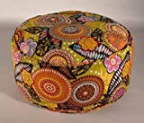 Barefoot Yoga Retro Pattern Tall Zafu Cushion