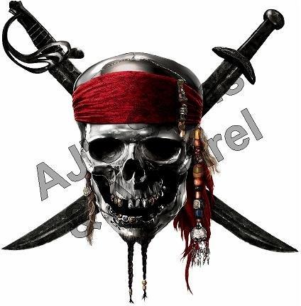 Pirates Skull 2 Vinyl Sticker Decal Cars Trucks Vans Walls Laptop]()