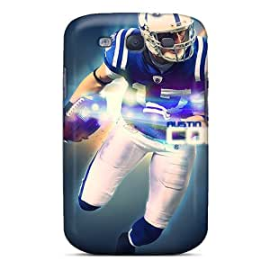 DrawsBriscoe Samsung Galaxy S3 Scratch Resistant Cell-phone Hard Covers Provide Private Custom Realistic Indianapolis Colts Series [Lte4951YagM]
