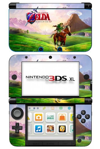 Zelda Ocarina of Time Game Skin for Nintendo 3DS XL Console
