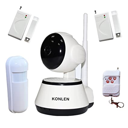 KONLEN Wifi CCTV Network IP Camera Audio PTZ P2P 720P Intruder Alarm Home Burglar Security System