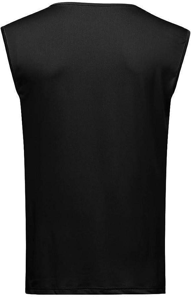 Pandaie Mens T Shirt Top Men T Shirt Casual Sleeveless Low Neck T-Shirt Casual Sport Tops Tank Top