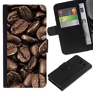 Planetar® Modelo colorido cuero carpeta tirón caso cubierta piel Holster Funda protección Para SAMSUNG Galaxy S3 III / i9300 / i747 ( Coffee Beans Macro )