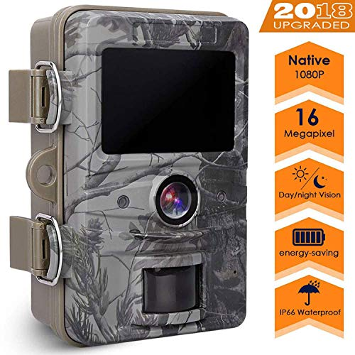 AGM Game Trail Camera, 16MP 1080P Wildlife Camera IP66 Waterproof with 120°Wide Angle Gaming Camera Video Hunting Night Vision for Outdoor Recording