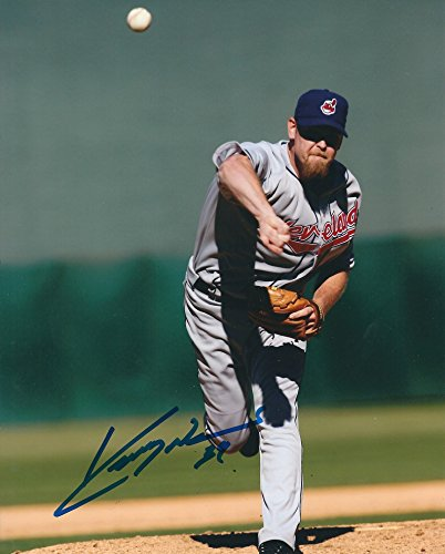 (Autographed Kerry Wood 8x10 Cleveland Indians Photo)