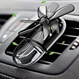 WiLEES Car Aromatherapy Essential Oil Diffuser Car Air Freshener Car Fragrance Diffuser Mini Fan Car Decoration Vent Clip Galvanized Alloy with Adjustable Speed Gear - Black