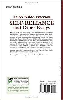ralph waldo emerson self reliance and other essays book Self-reliance from essays: first series (1841) ralph waldo emerson ne te quaesiveris extra man is his own star and the soul that can render an honest.