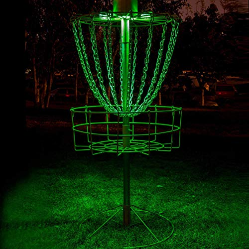 - Set of 2 LED Lights for Flying Disc Golf Basket, Waterproof, Remote Control, Remote Controlled and velcroes to Attach (Basket Not Included)