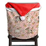 Animal Goat Christmas Chair Covers Cool Easy To Carry Hang Around Chair For Men And Women Chair Back Covers Holiday Festive