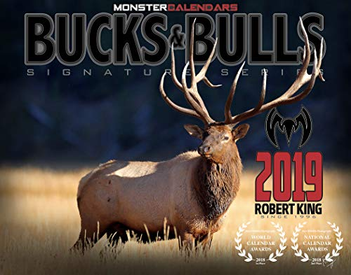 2019 Whitetail Mule Deer & Bull Elk Calendar by Monster Calendars/Robert King -