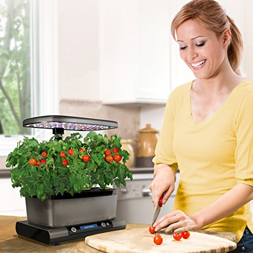 AeroGarden Harvest Elite with Gourmet Herb Seed Pod Kit, Platinum