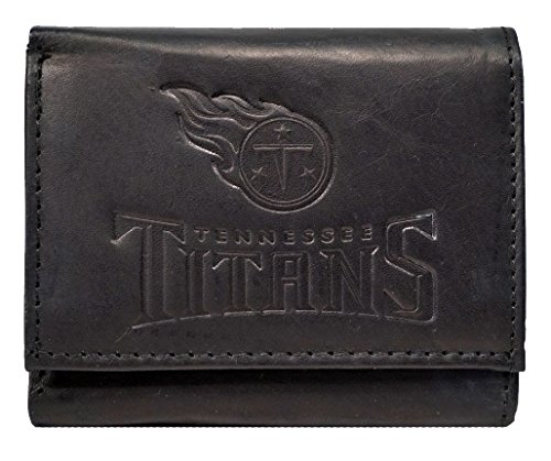 Rico Tennessee Titans NFL Embossed Logo Black Leather Trifold Wallet