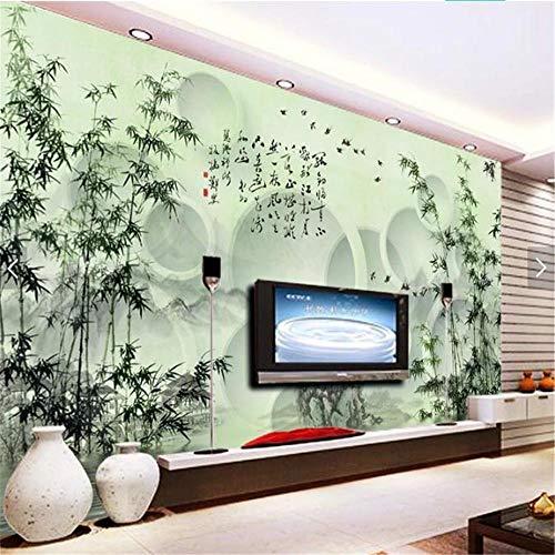 LoiaZh 3D HD Wallpaper Decoration Mural Wall Sticker Ink Bamboo Background Wall -