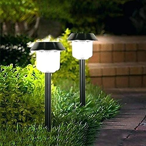 Sogrand Solar Lights Outdoor 6Pack Pathway Decorative Garden Bright White High 15 Lumens LED Stake Light Decorations Waterproof Path Landscape Lighting Yard Decor Driveway Stakes for Outside Walkway ()