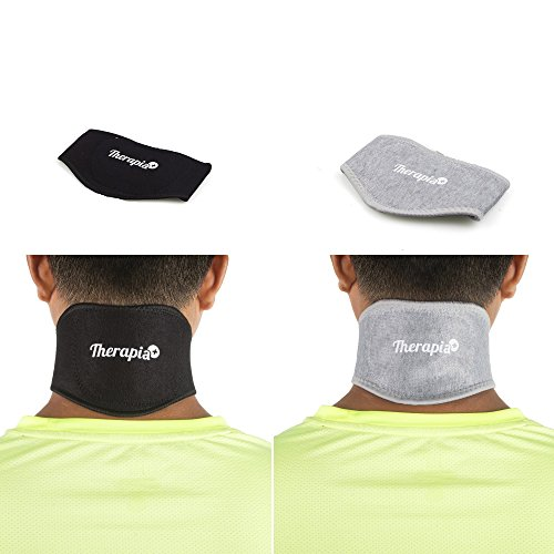Therapia Plus Neck Pain Relief - Self Heated Tourmaline Magnetic Neck Wrap Enhance Blood Circulation and Bamboo Charcoal Neck Brace Pack of 2 for Sore ()