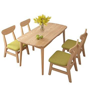 Marvelous Amazon Com Conemmo Nordic Solid Wood Dining Table And Chair Ibusinesslaw Wood Chair Design Ideas Ibusinesslaworg