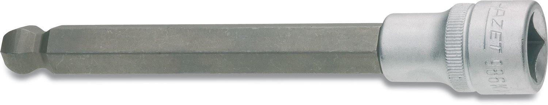 Hazet 3//8-Inch 6 x 43.5 mm Hexagon Screwdriver Socket Silver