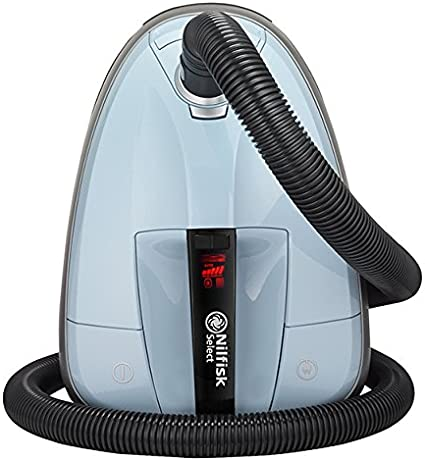 Nilfisk 128350604 Aspirador trineo, 220-230V, con bolsa, 650 W, 2.7 litros, 75 Decibelios, Azul: Amazon.es: Hogar