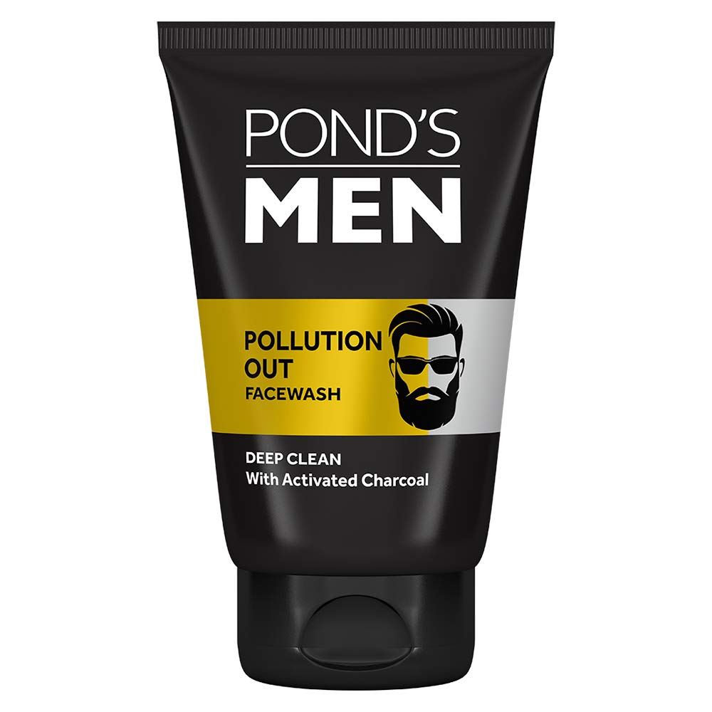 Pond's Men Pollution Out Activated Charcoal Deep Clean Facewash, 100 g product image