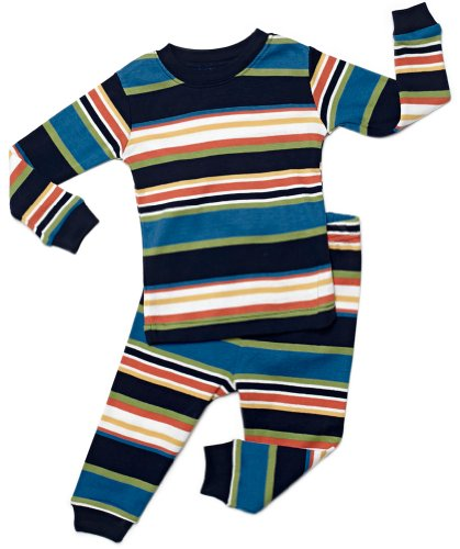 "Leveret ""Baby Boy"" Striped 2 Piece Pajama Set 100% Cotton"