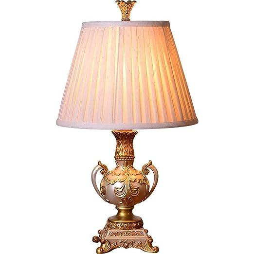 HZC Lámparas de Mesa Tradicionales Resina Vintage Estilo ...