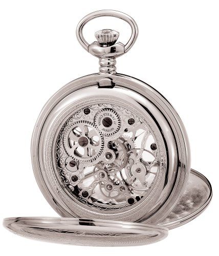 Avalon-Imperiale-Series-17-Jewel-Hand-Wind-Silver-Tone-Skeleton-Pocket-Watch-and-Chain-8800SX