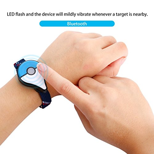 Price comparison product image Smart Bluetooth Bracelet for Pokemon GO Plus Wristband Interactive Figure Toy(Color:Blue&White)